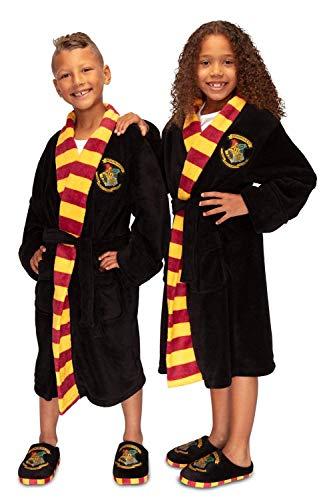 Harry Potter Hogwarts - Albornoz infantil, Negro, 13-15 años