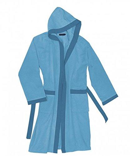 Caleffi - Albornoz con capucha TECNO de microfibra (azul, talla XL)