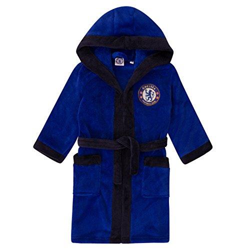 Chelsea FC - Batín oficial con capucha - Para niño - Forro polar - 9-10 años