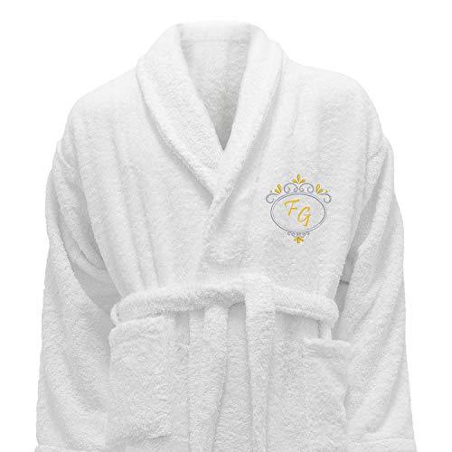 Bordado Personalizado Hotel Edition Blanco Albornoz - Ref. Deluxe, 100% algodón, Blanco, X-Large