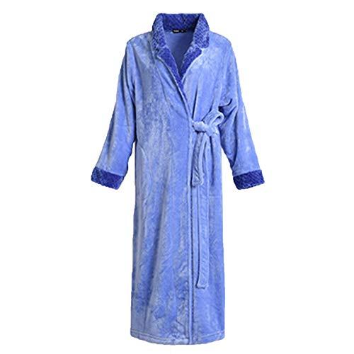 Bathrobe Albornoz de Lujo Cuello Chal de Pareja -Invierno Cómodo Cálido Hogar Pijamas de Pareja (Color : Purple, Size : 3X-Large)