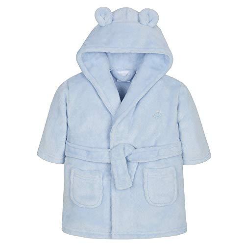 Bonito vestido para bebé, con forro polar suave y esponjoso de color rosa o azul. Elefante azul. 6-12 Meses