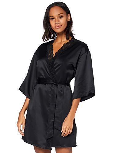 Marca Amazon - Iris & Lilly Bata Mujer, Negro (Black Beauty), S, Label: S