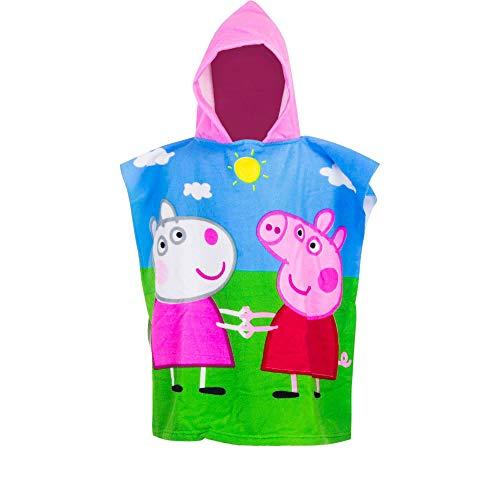 Peppa Pig Kids Towel Hooded Poncho - Multicolour - 55x110 cm