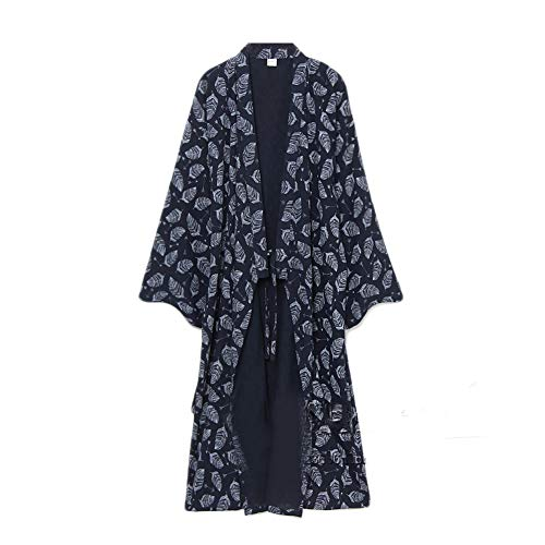 Fancy Pumpkin yukata de los hombres Robes Kimono Robe Khan Pijamas de ropa al vapor [Talla M]