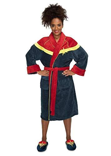 Groovy Captain Marvel 124022495 - Albornoz de forro polar para mujer, talla única