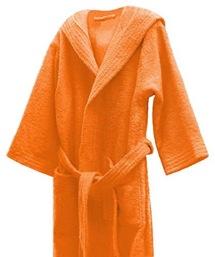 Lasa Albornoz Infantil, algodón 100%, Naranja, Talla 8