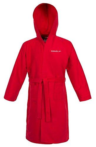 Speedo Microfiber Albornoz, Hombre, Rojo (Red), XL