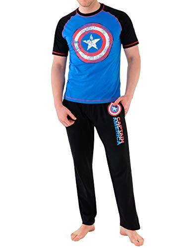 Marvel - Pijama para Hombre - Avengers Capitán América - Large