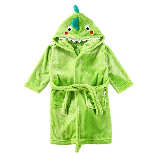 Niños Albornoz Dinosaurio Pijamas Camisón Toalla de Baño Ropa de Dormir Bata de Baño