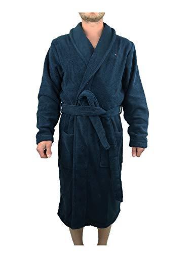 Tommy Hilfiger Icon Bathrobe Bata de Baño, Azul (Navy Blazer-PT), XL para Hombre