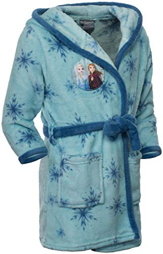 Brandsseller Albornoz infantil con capucha, diseño de Frozen 2, azul claro, 98 cm-104 cm