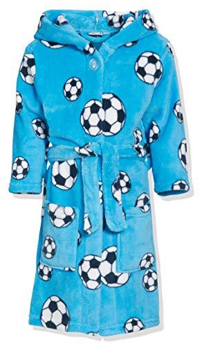 Playshoes - Albornoz con capucha de manga larga para niño,, 5 años (110-116 cm), Azul Original