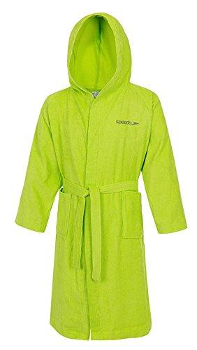 Speedo Microterry Albornoz, Unisex Adulto, Verde (Apple Green), S