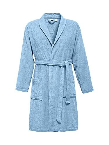ESPRIT Albornoz unisex 100% algodón., azul celeste, XL