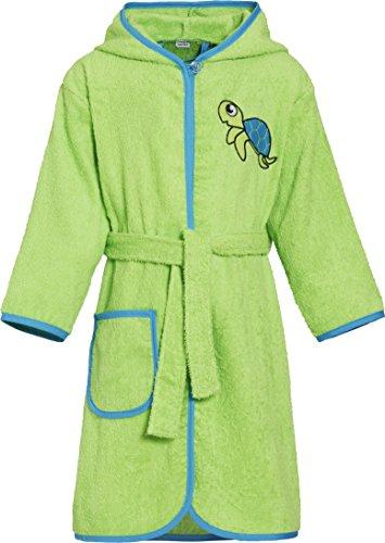 Playshoes Frottee-Bademantel Schildkröte Traje de baño, Verde (Grün 29), 134/140 para Niños