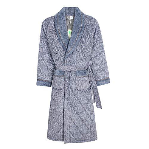 Hombre Albornoz Hombre Manga Larga camisón de 3 Capas Acolchado Acolchado Grueso cálido Kimono tonelada túnica Dormir camisón (Color : 96178, Size : 165 180cm 68 78kg)