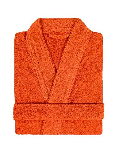 Lasa Home Albornoz Talla XL, colección Pure Kimono, algodón, Naranja, 140x 48x 1cm