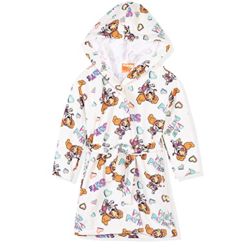 Paw Patrol - Albornoz con capucha para niña (microfibra, secado rápido, 2-8 años), Beige - Skye Pattern, 5-6 Años