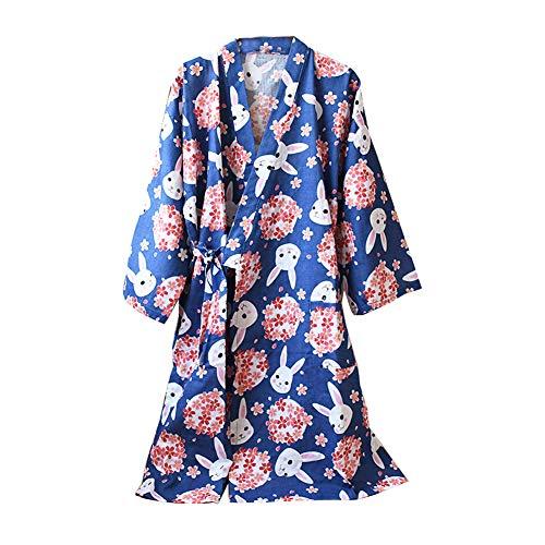 Kimono Robe Yukata para mujer Albornoz Pijamas-Fresa Talla L