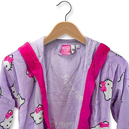 THEAILATI Albornoz Hello Kitty de rizo de terciopelo con capucha para mujer - S