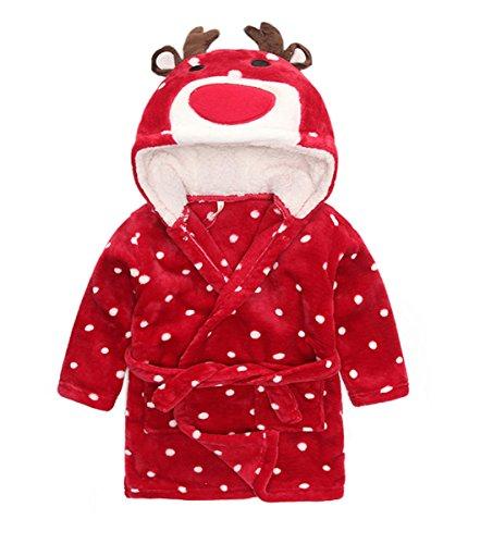 Albornoz Niña Camisones Disfraz de Peluche Animales Ropa De Dormir con Capucha Baño Costume Halloween Carnaval Pijamas Batas para bebé Chicas Chicos niños