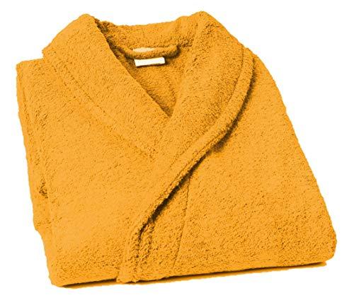 Lasa Pure Albornoz con Cuello Tipo Smoking, algodón 100%, Oro, S