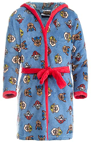 Brandsseller Albornoz infantil con capucha, diseño de La Patrulla Canina. azul marino 98 cm-104 cm