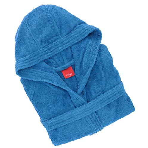 Gabel - Albornoz para Adulto, 100% algodón Azul Azul Elettrico M
