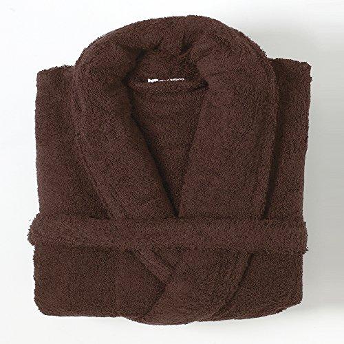 Linens Limited - Albornoz - 100% algodón Egipcio - Chocolate, Grande