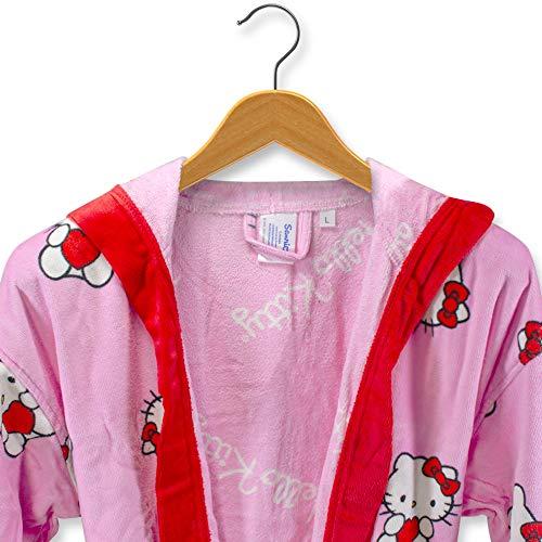 THEAILATI Albornoz Hello Kitty de rizo de terciopelo chinillado para mujer - S