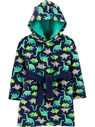 Simple Joys by Carter's Sleeper Robe Bata para bebés y niños pequeños, Verde/Azul Marino, Dinosaurio, 2-3 años