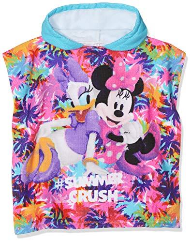 Disney Minnie Mouse Albornoz, Blanco (Turquoise Optic White), Talla única para Niñas