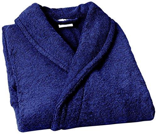 Textiles Vertrauen Pure - Albornoz con capucha para mujer, color Azul Marino, talla Small