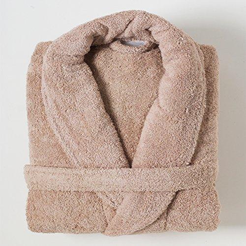 Linens Limited - Albornoz - 100% algodón Egipcio - Beige, Grande
